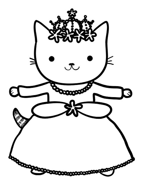 princess kitten coloring pages cat princess coloring page stock illustration download kitten princess coloring pages