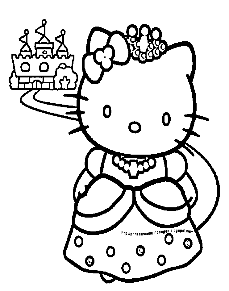 princess kitten coloring pages hello kitty princess coloring page coloring pages 4 u princess coloring pages kitten