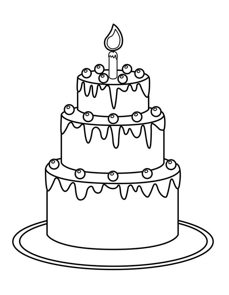 printable birthday cake birthday cake coloring pages preschool at getcoloringscom cake printable birthday
