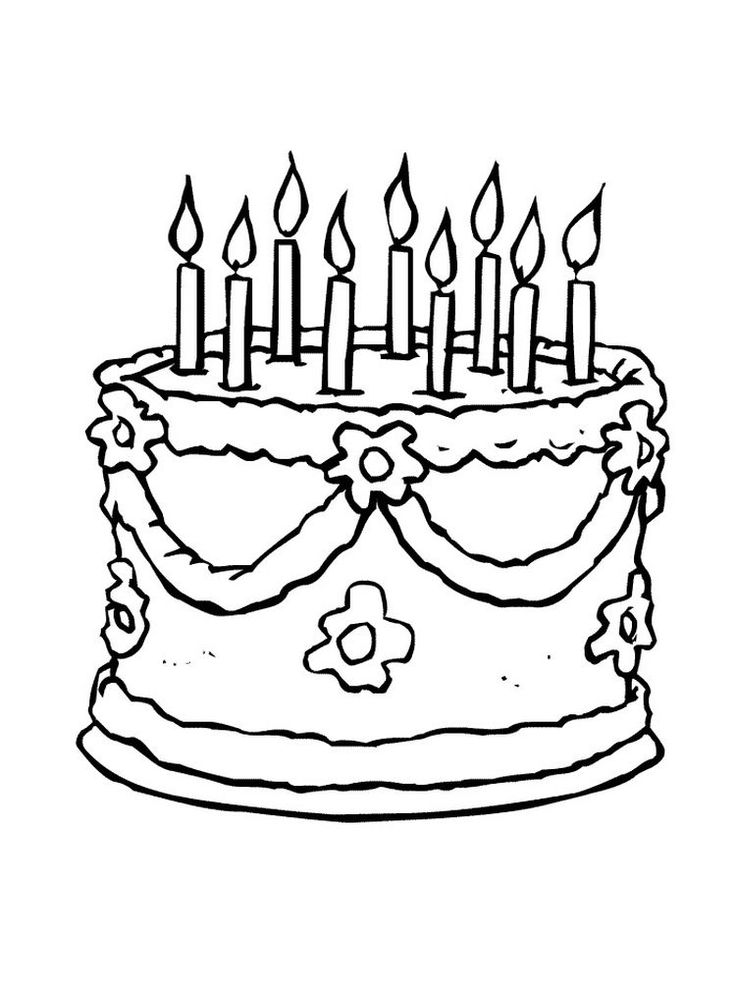 printable birthday cake birthday cake with four candles coloring pages printable printable cake birthday