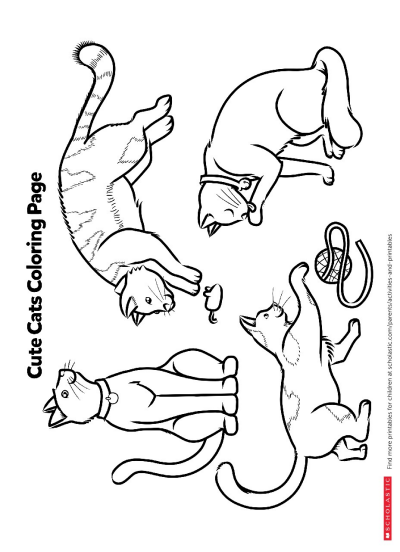 printable cat pictures to color cat cute funny pictures pictures color cat to printable
