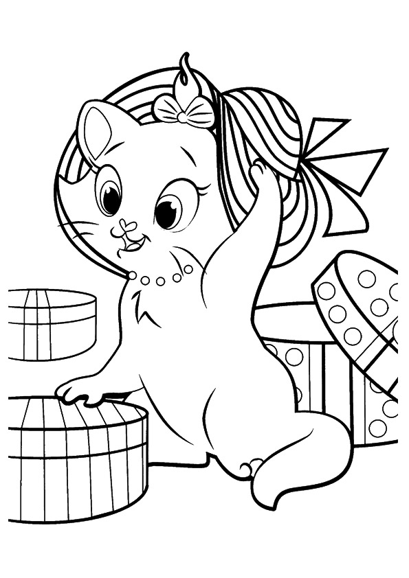 printable cat pictures to color christmas cat line art free clip art pictures to printable color cat