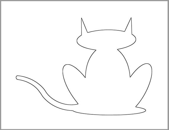 printable cats free cat stencils to print and cut out cats printable