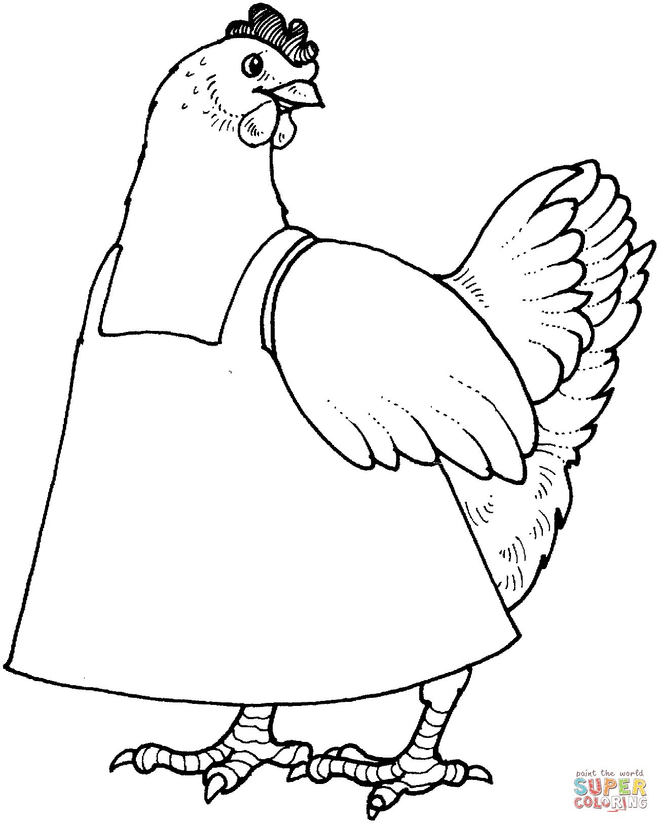 printable chicken chicken colouring page part 6 free resource for teaching printable chicken 1 1