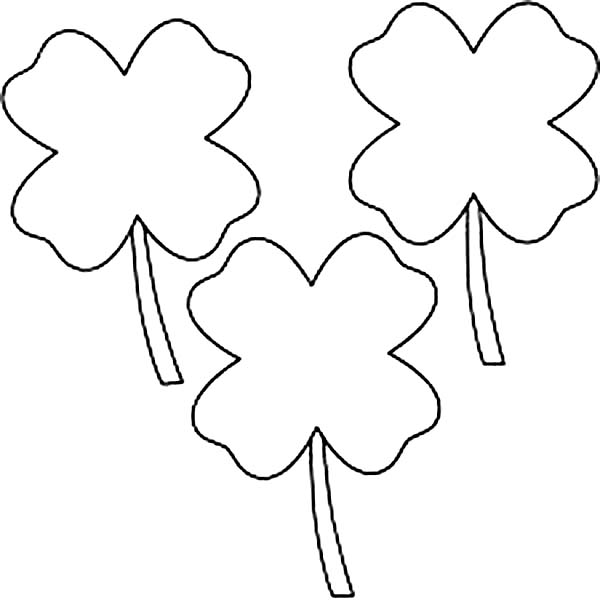 printable clover 4 leaf clover coloring page coloring home printable clover