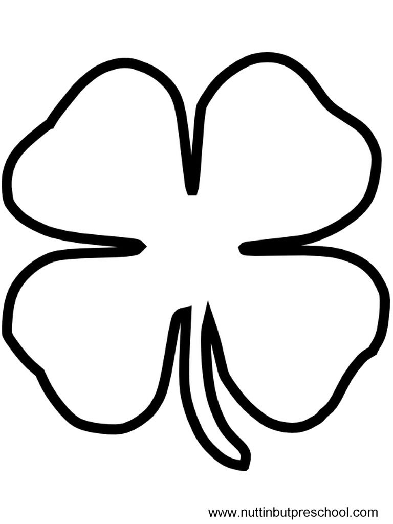 printable clover four leaf clover coloring page childrencoloringus printable clover