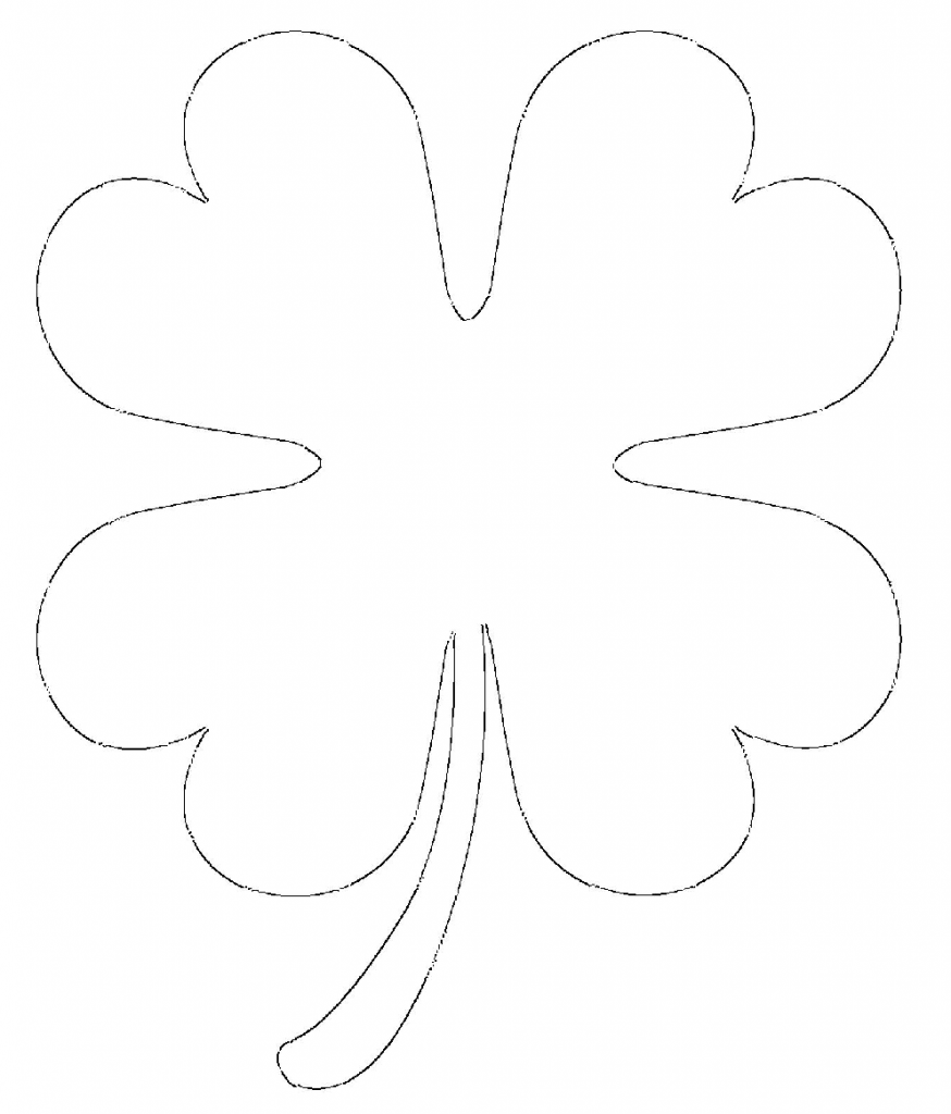 printable clover four leaf clover coloring page st patrick39s day printable clover