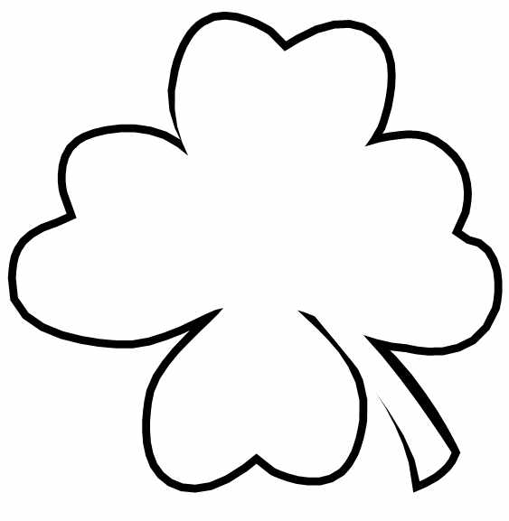 printable clover large shamrock outline for quot4 things that make me feel printable clover