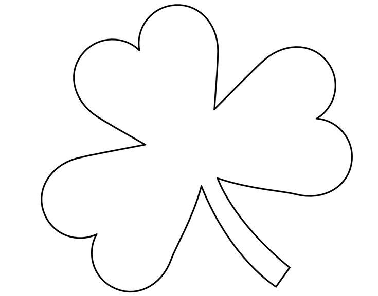 printable clover printable four leaf clover pattern or coloring page printable clover