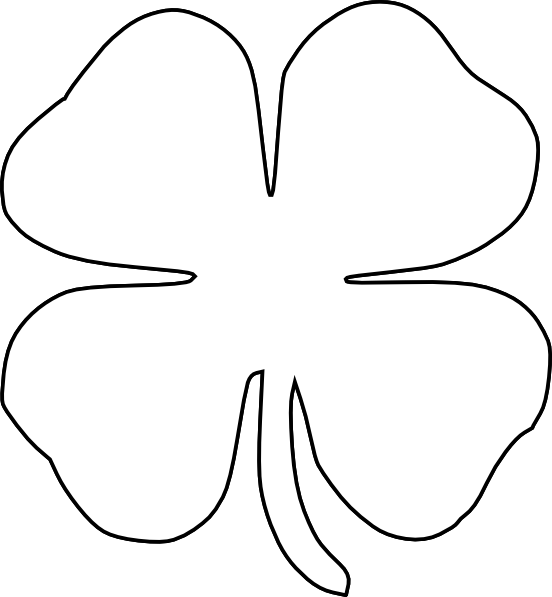 printable clover shamrock coloring pages printable clover