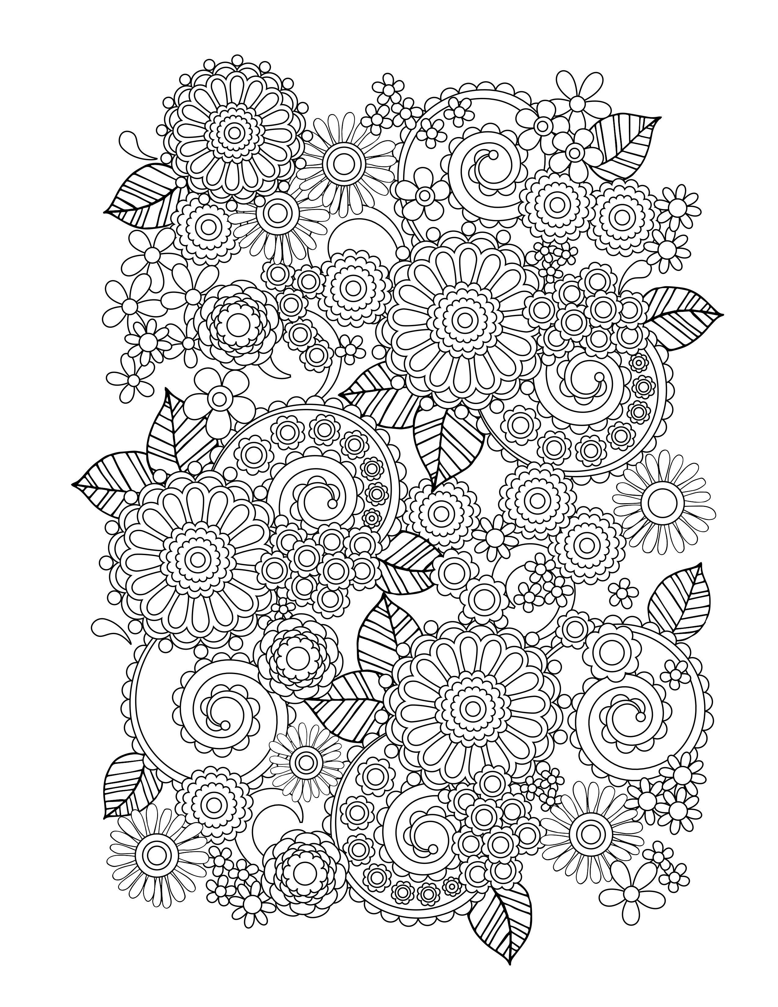 printable coloring pages for adults flowers adult coloring pages flowers to download and print for free for coloring adults pages printable flowers