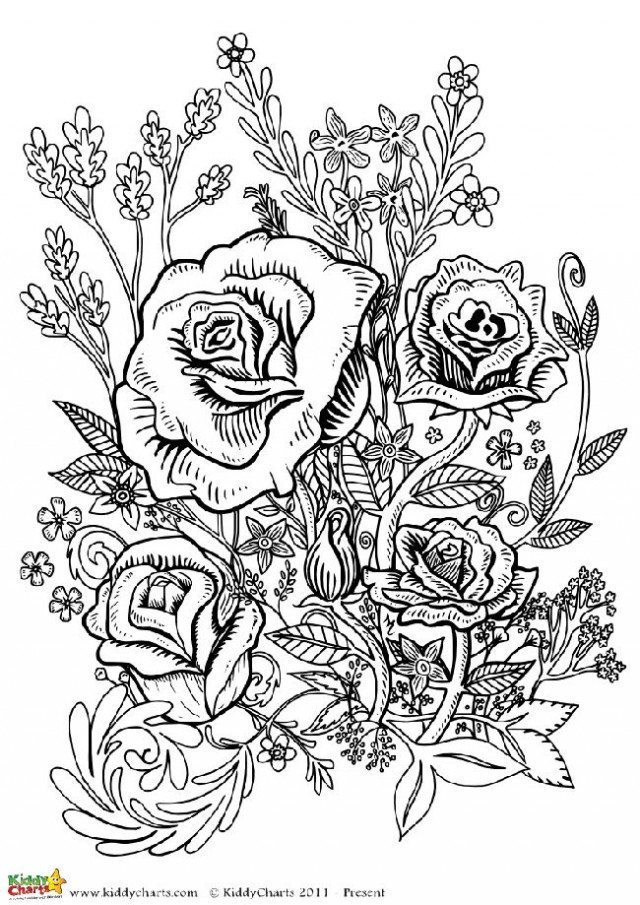 printable coloring pages for adults flowers flowers coloring pages for adults free printable flowers adults coloring printable flowers for pages