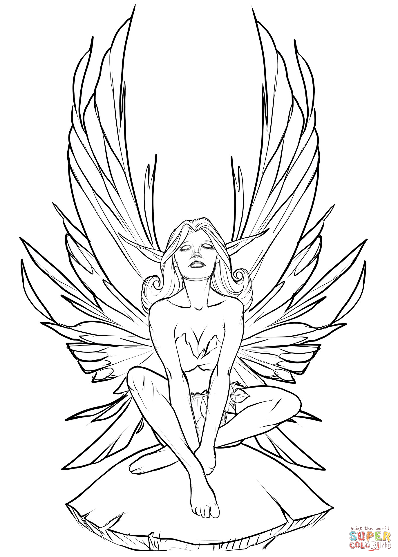 printable fairy coloring pages coloring pages fairies free printable coloring pages free pages printable fairy coloring