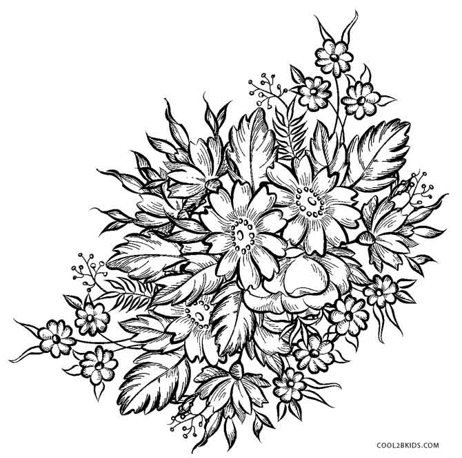 printable flower pictures free printable flower coloring pages for kids best pictures printable flower