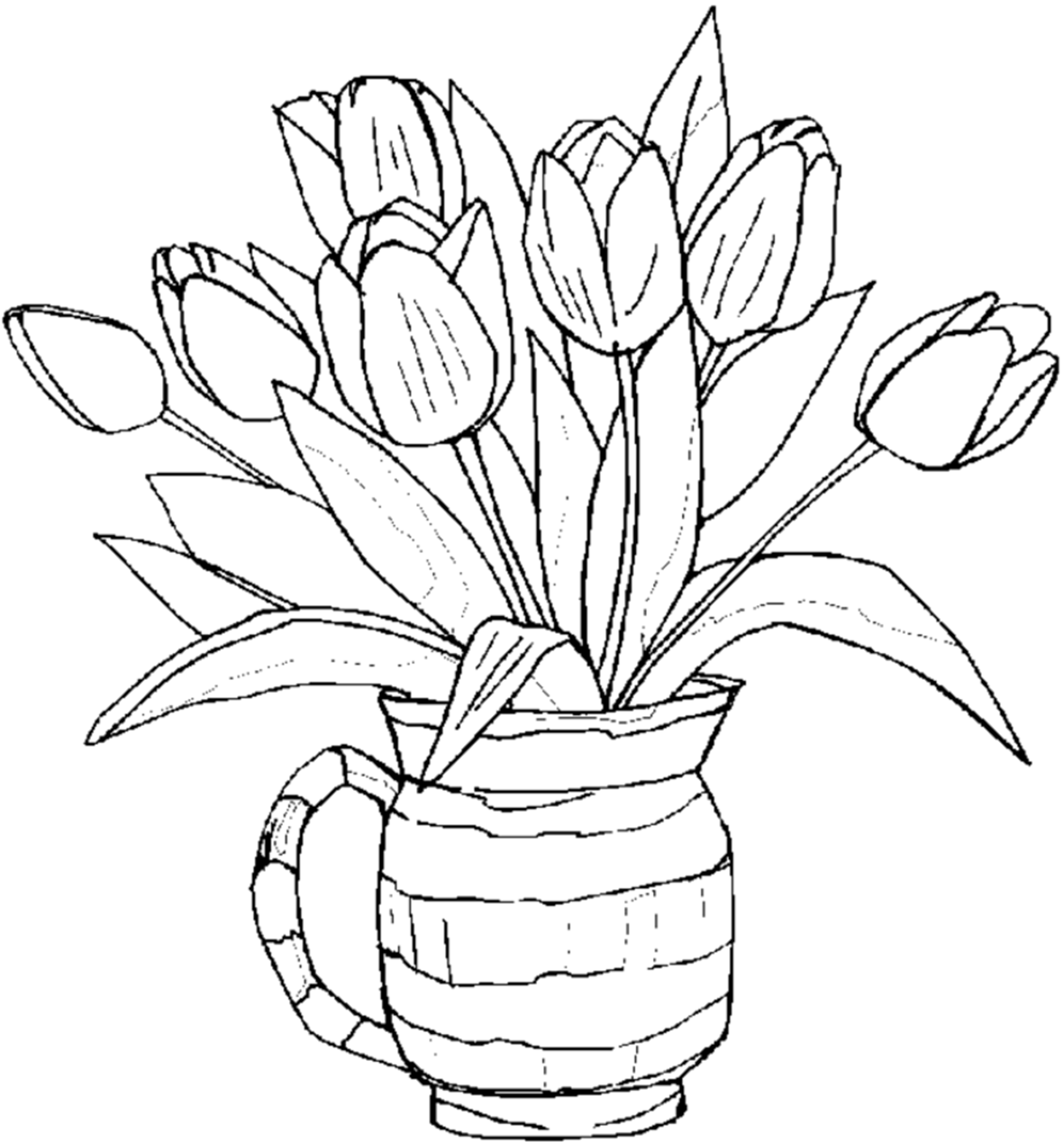printable flower pictures free printable tulip coloring pages for kids printable pictures flower
