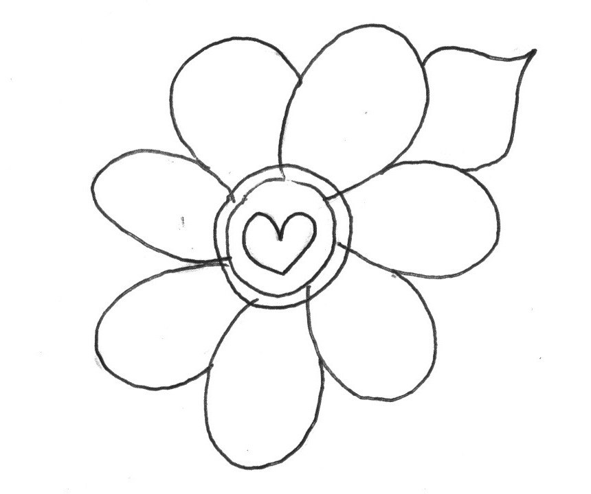 printable flower pictures simple flower outline clipart clipground printable pictures flower