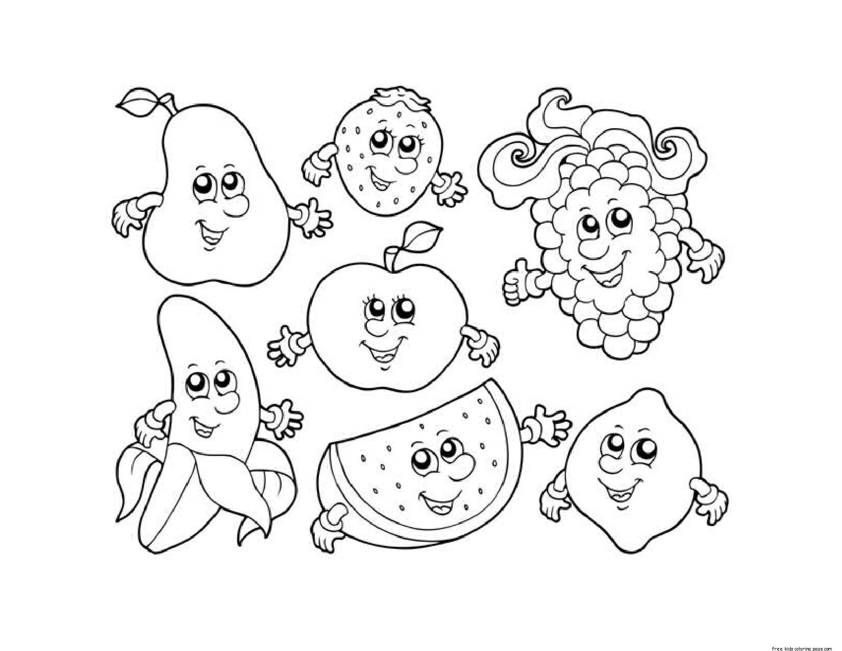 printable fruit coloring pages apple fruit coloring pages printable free printable kids coloring fruit printable pages