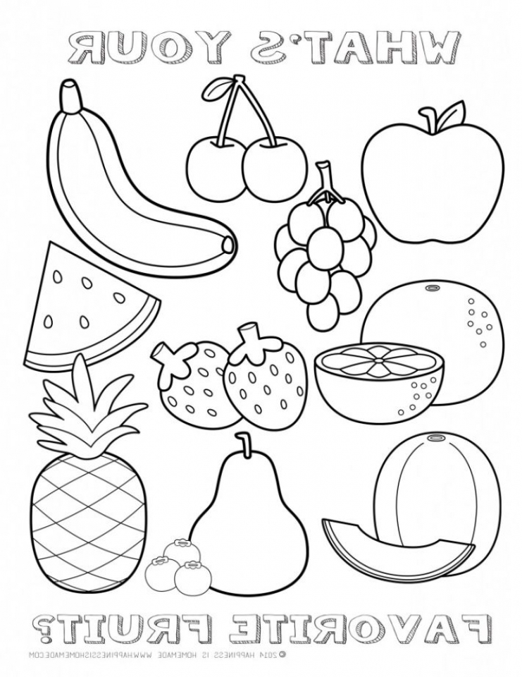 printable fruit coloring pages pineapple coloring pages to download and print for free pages fruit coloring printable