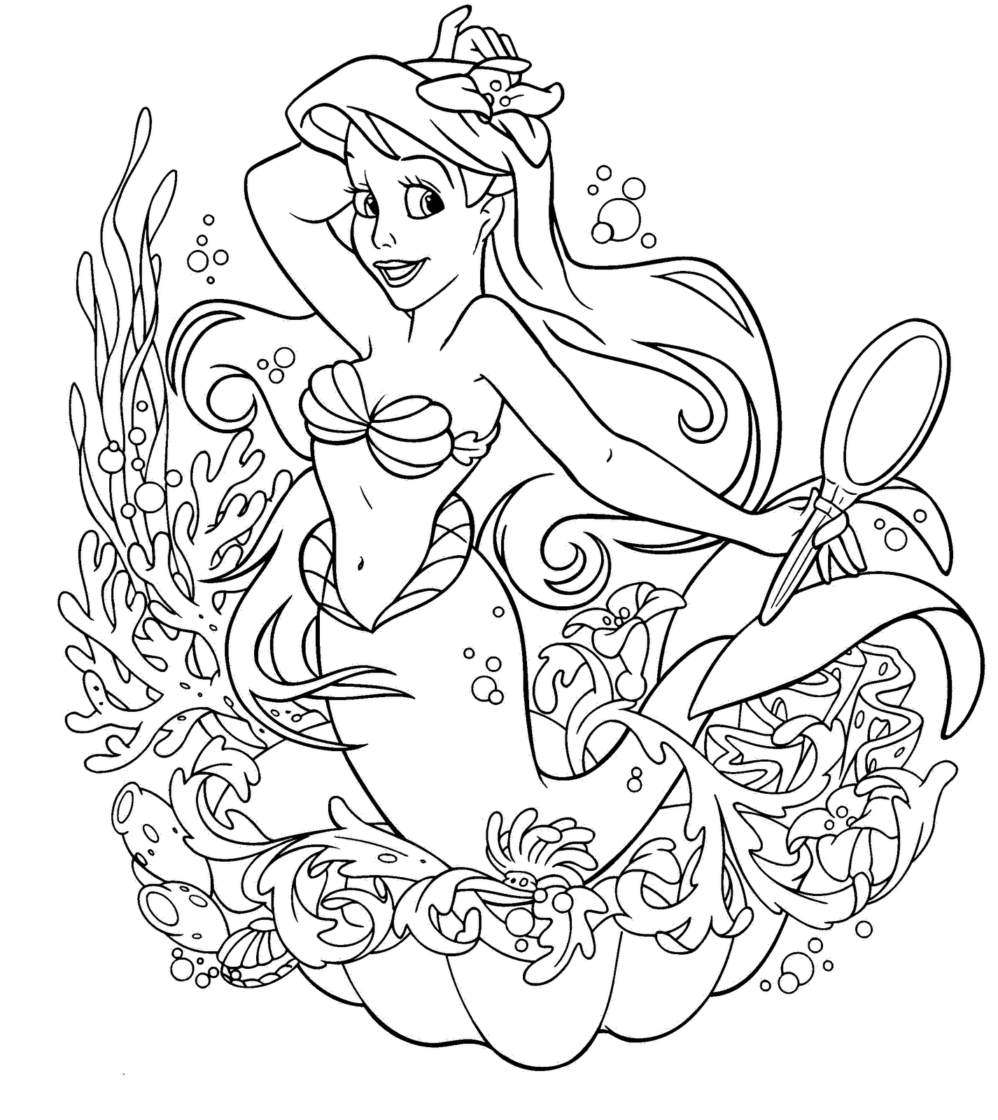 printable little mermaid coloring pages ariel the little mermaid coloring pages for girls to print coloring little mermaid pages printable