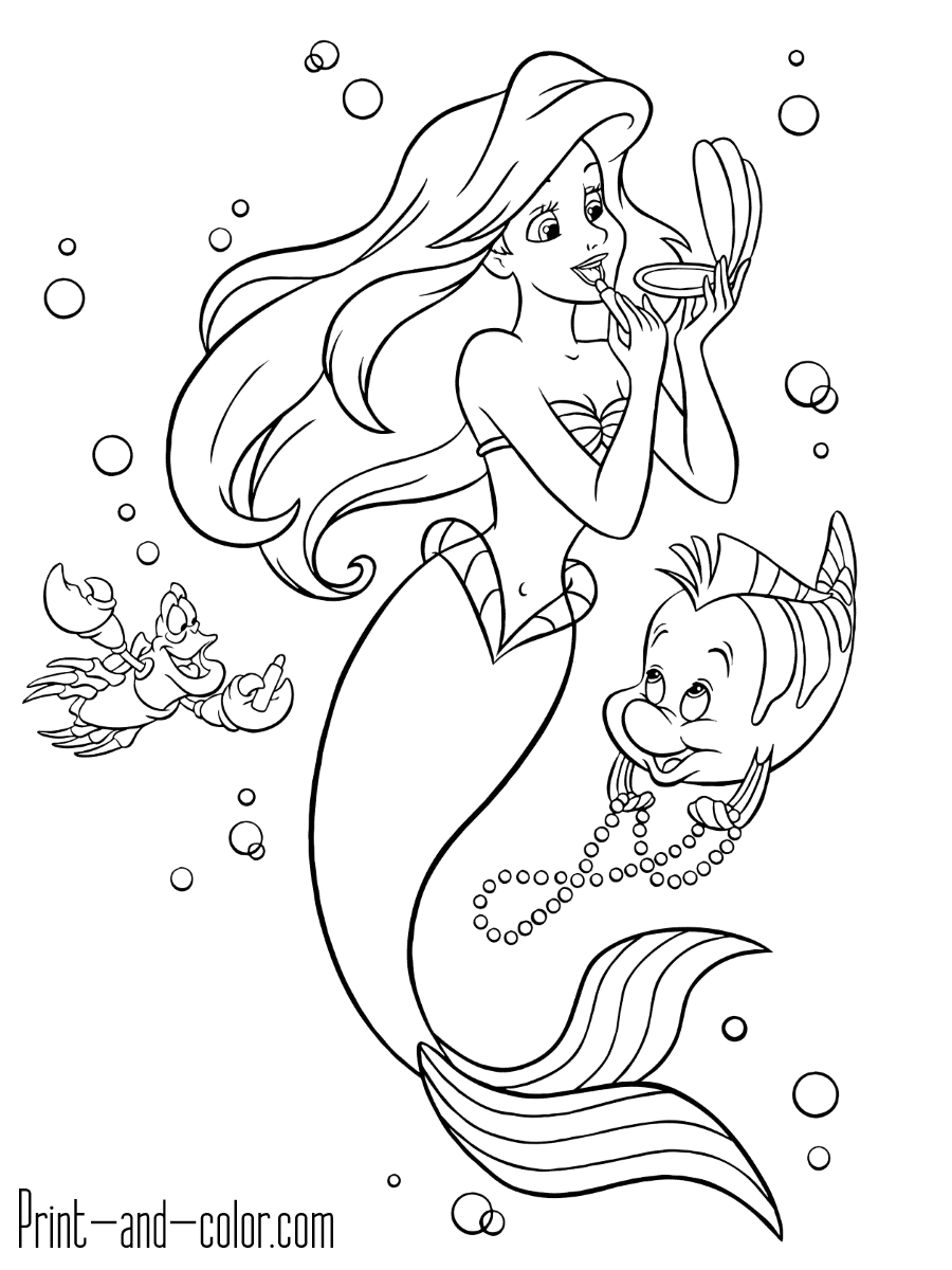 printable little mermaid coloring pages cartoon mermaids pictures clipartsco printable coloring little pages mermaid