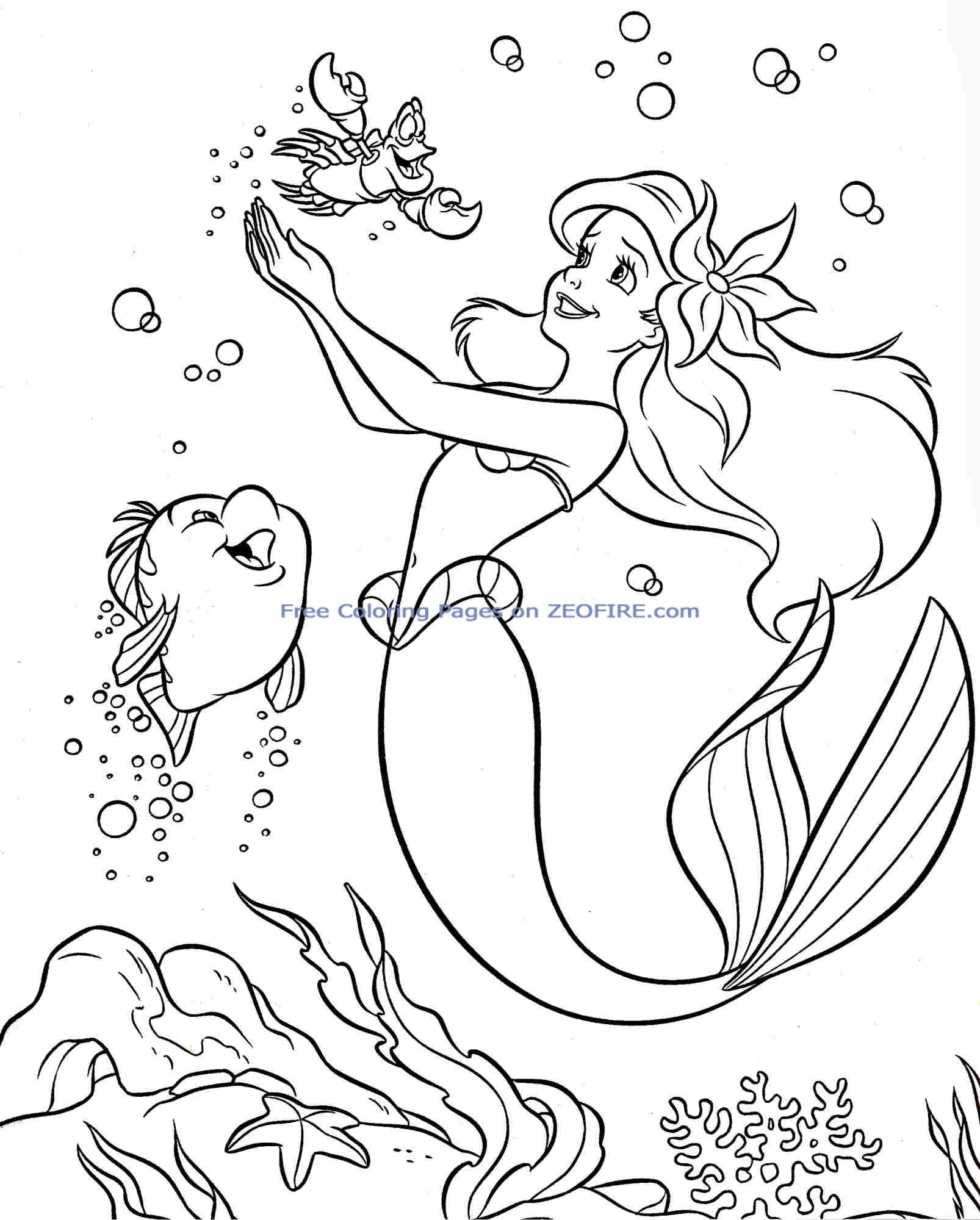 printable little mermaid coloring pages printable little mermaid coloring pages pages mermaid coloring little printable