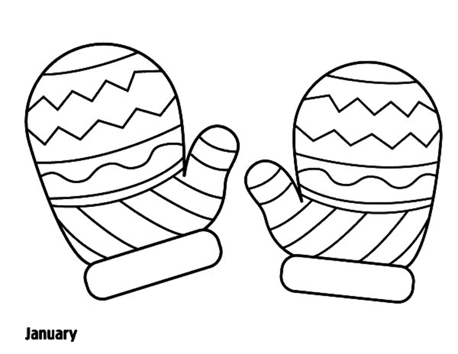 printable mitten coloring page download high quality mittens clipart coloring page mitten printable page coloring