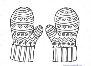 printable mitten coloring page printable mitten templates blank mitten shape pdfs mitten coloring page printable