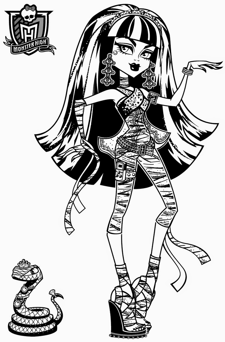 printable monster high coloring pages monster high coloring pages free and printable monster printable high