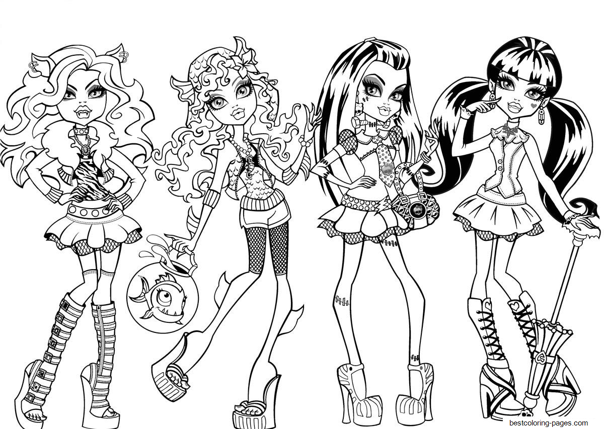 printable monster high coloring pages monster high coloring pages free and printable printable monster high