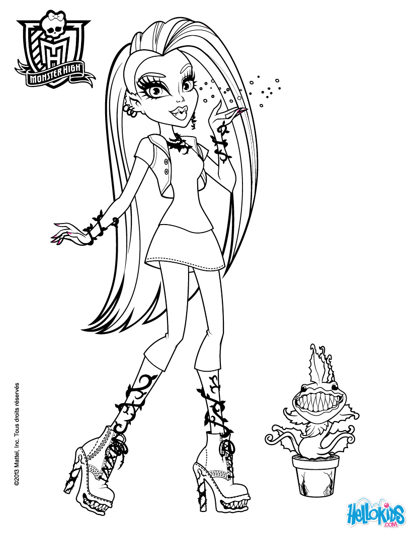 printable monster high monster high coloring pages to print at getdrawings free printable monster high