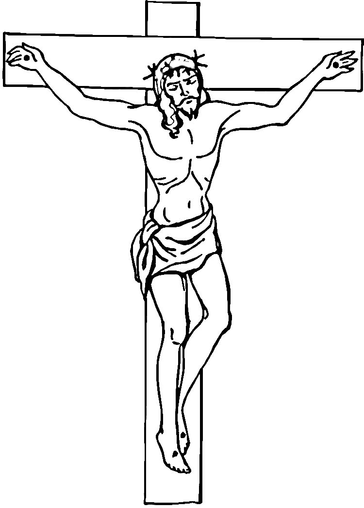 printable picture of jesus on the cross free printable jesus coloring pages for kids the cross on picture jesus printable of