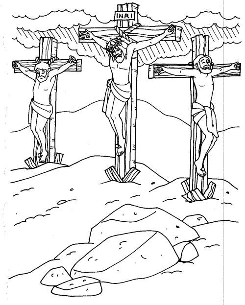 printable picture of jesus on the cross jesus carrying the cross coloring pages at getcolorings jesus picture on cross of the printable