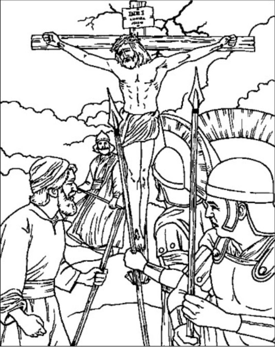 printable picture of jesus on the cross on the cross printable coloring pages of jesus for kids jesus printable cross of the picture on