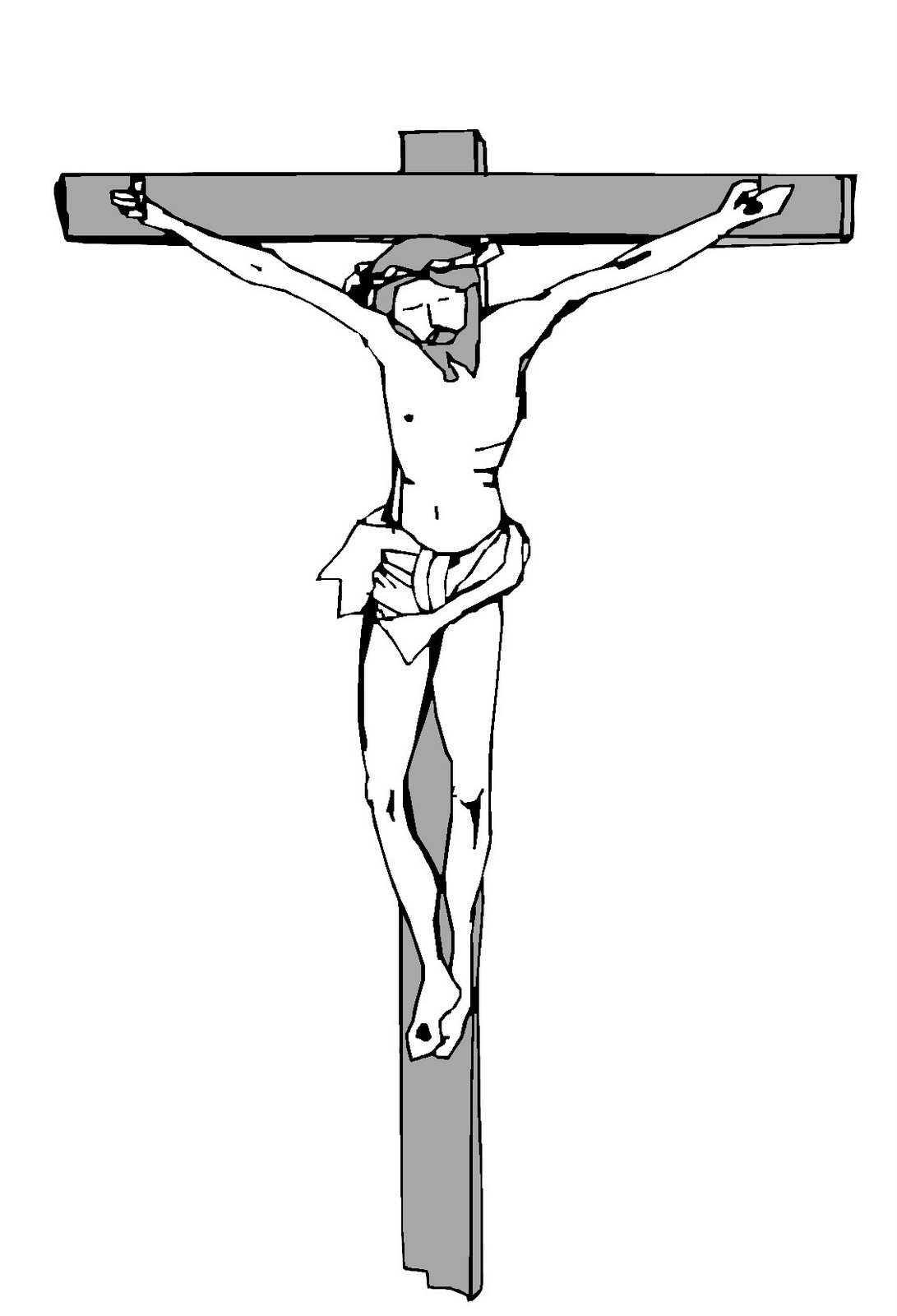 printable picture of jesus on the cross template cross coloring page jesus on the cross jesus jesus cross on the of printable picture