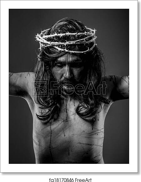printable pictures of jesus on the cross free art print of christianity representation of jesus cross printable of the pictures jesus on