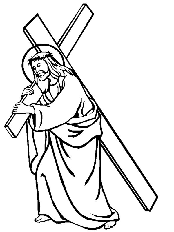 printable pictures of jesus on the cross jesus coloring pages free download on clipartmag pictures jesus the printable on of cross