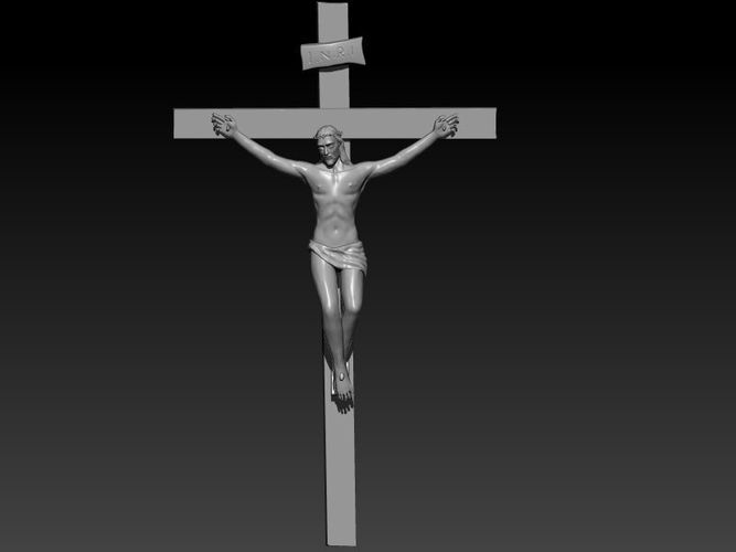 printable pictures of jesus on the cross jesus on the cross 3d print model cgtrader the pictures printable cross jesus of on