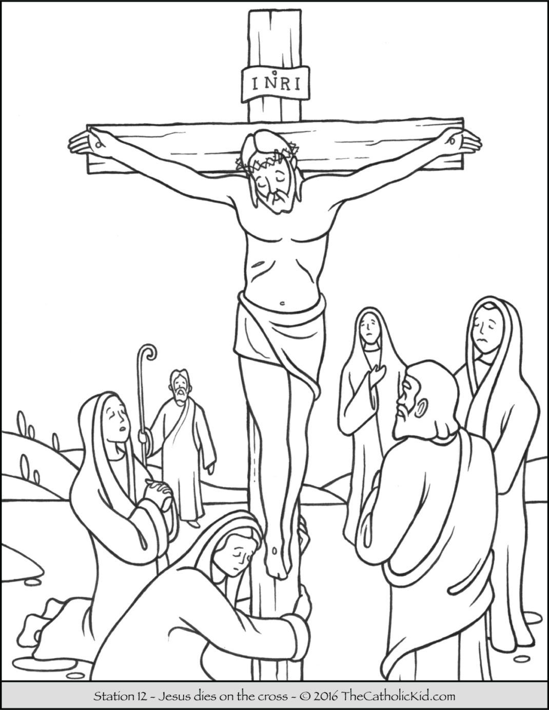 printable pictures of jesus on the cross stations of the cross coloring pages 12 jesus dies on of the printable on jesus cross pictures