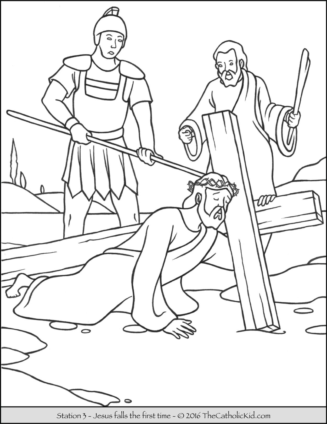 printable pictures of jesus on the cross stations of the cross coloring pages 3 jesus falls the of cross on the pictures jesus printable