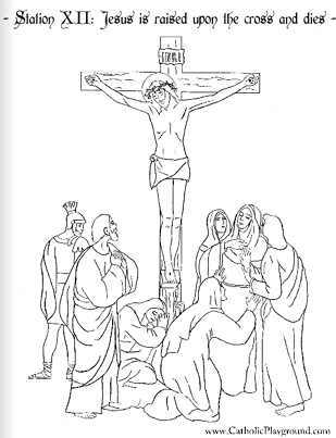 printable pictures of jesus on the cross the stations of the cross in coloring pages catholic the cross of jesus pictures printable on