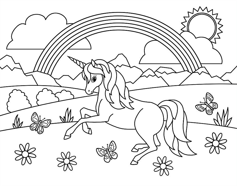 printable pictures to paint for kids kids rainbow unicorn coloring page painting by crista forest to kids printable for pictures paint