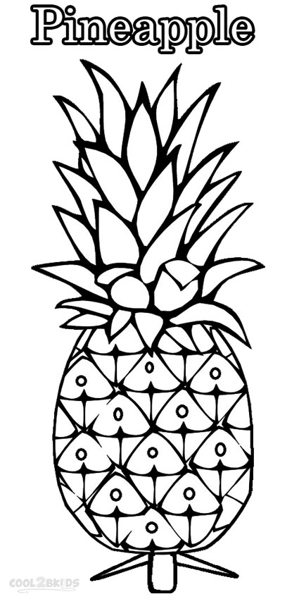 printable pictures to paint for kids printable pineapple coloring pages for kids cool2bkids paint pictures to printable kids for