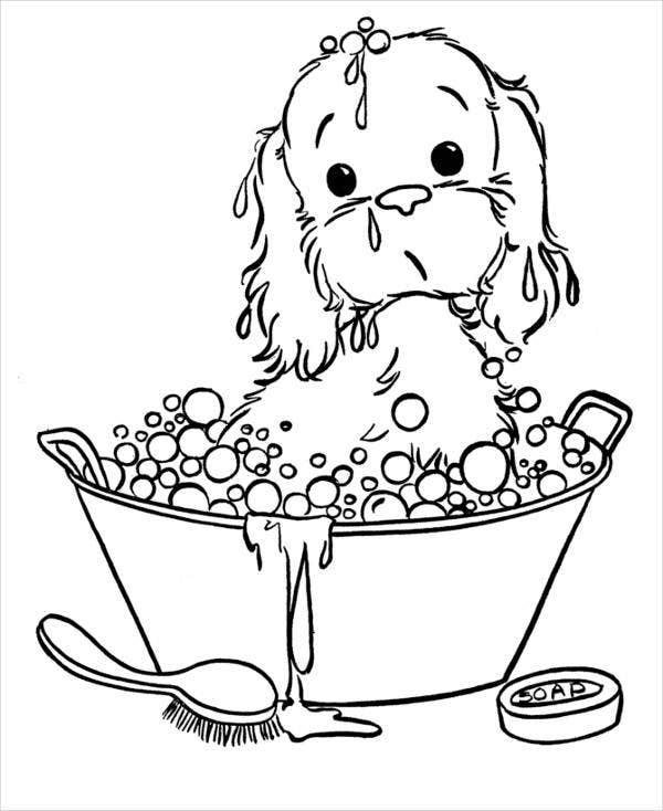 printable puppy pictures animals coloring pages cute puppy playing kids pictures puppy printable
