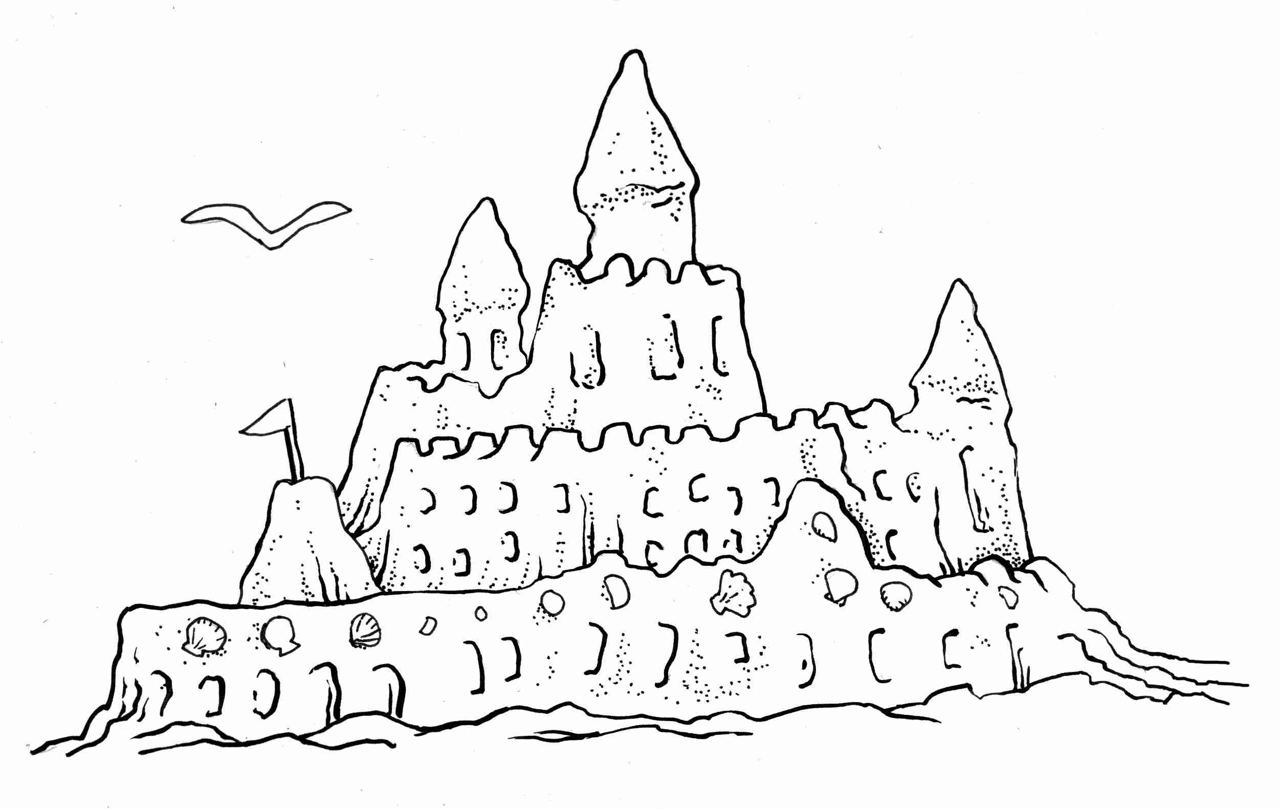 printable sand castle coloring page sand castle coloring pages getcoloringpagescom sand castle printable page coloring
