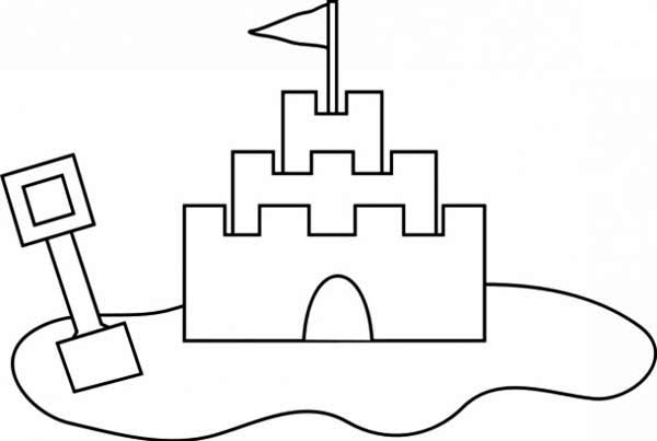 printable sand castle coloring page two kids colaborate making sand castle coloring page coloring castle printable page sand