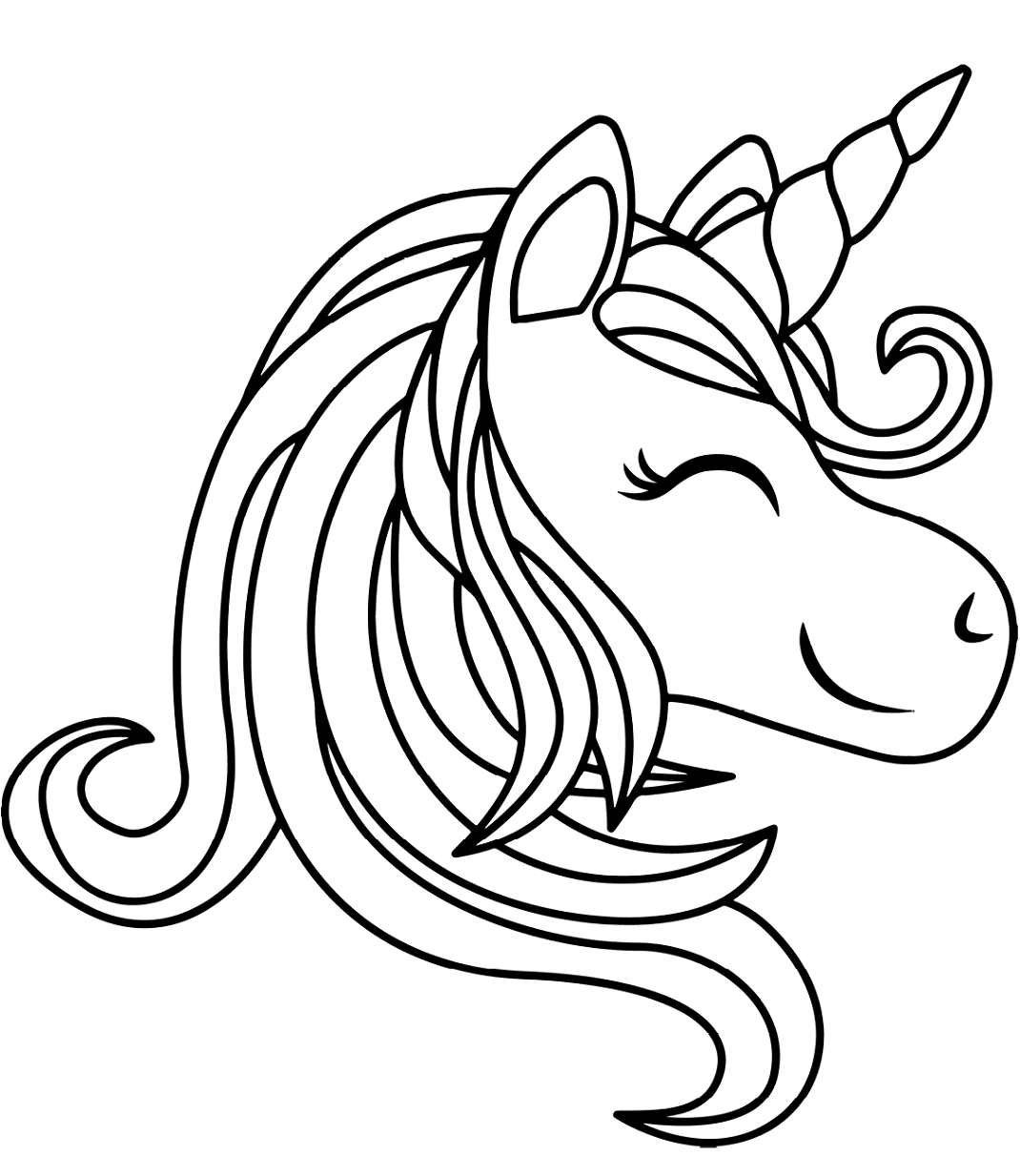 printable unicorn head coloring pages cute unicorn head pages printable coloring pages printable head unicorn coloring pages