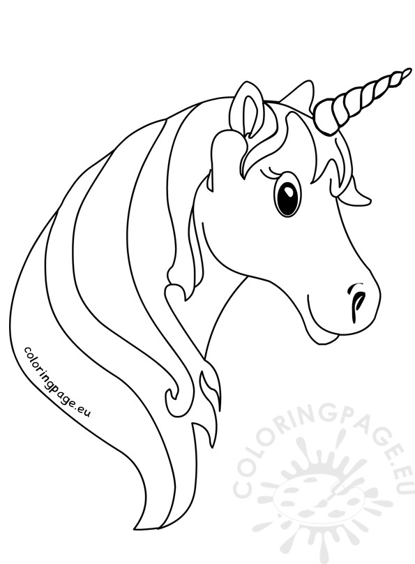 printable unicorn head coloring pages cute unicorn head pages printable coloring pages unicorn printable head pages coloring