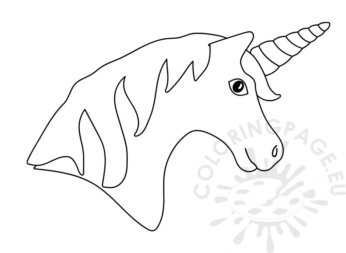 printable unicorn head coloring pages easy unicorn coloring pages simple unicorn outline printable coloring head pages unicorn