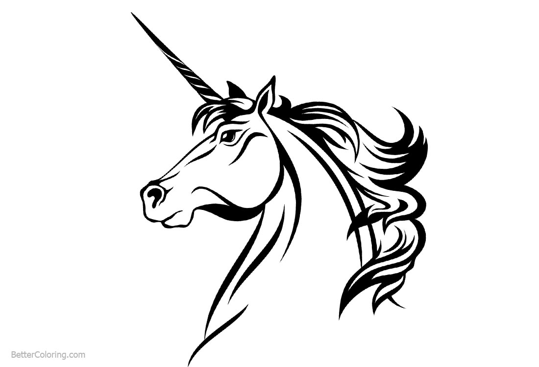 printable unicorn head coloring pages print download unicorn coloring pages for children pages coloring unicorn head printable