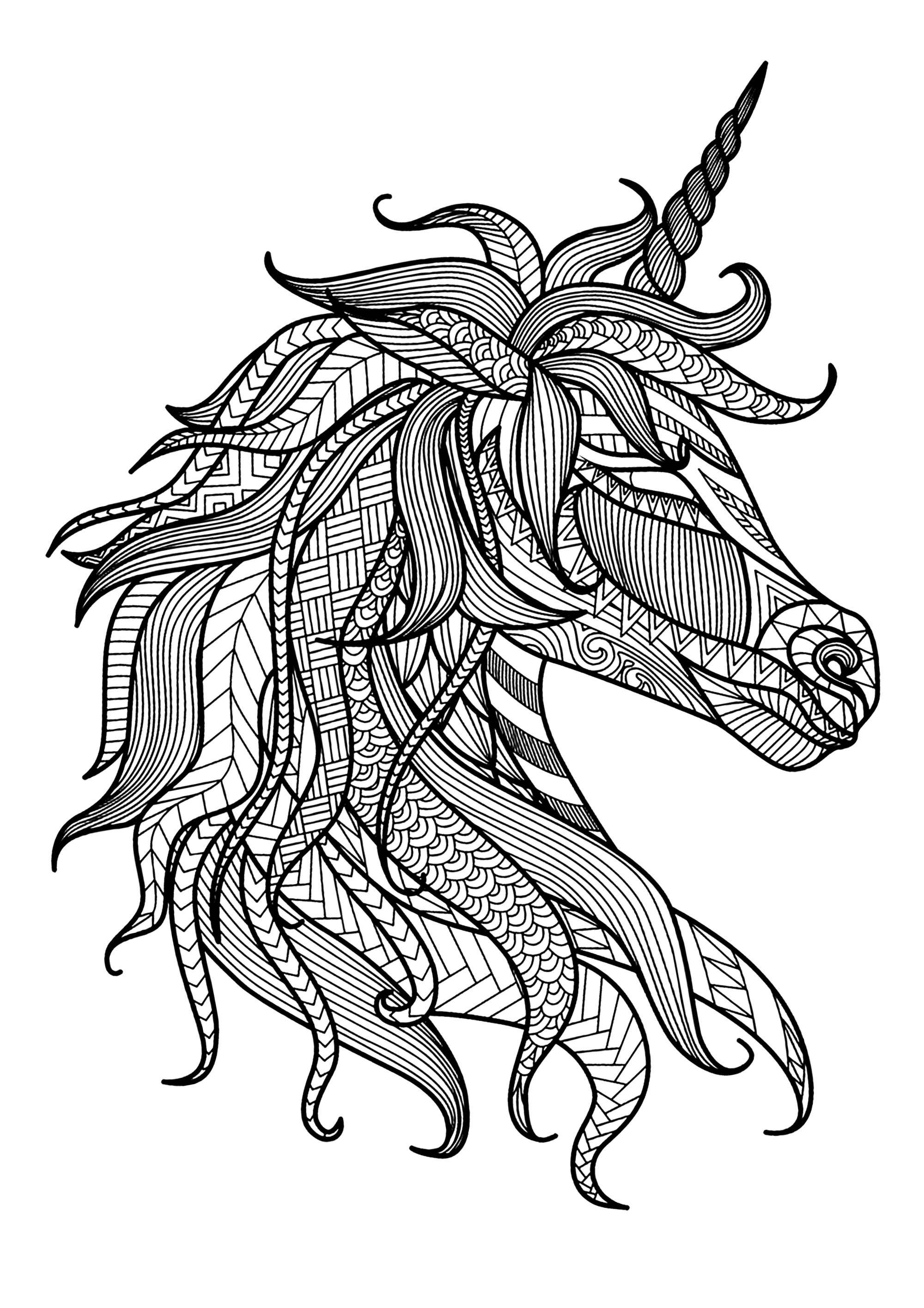 printable unicorn head coloring pages simple unicorn39s head coloring page free printable pages coloring head printable unicorn
